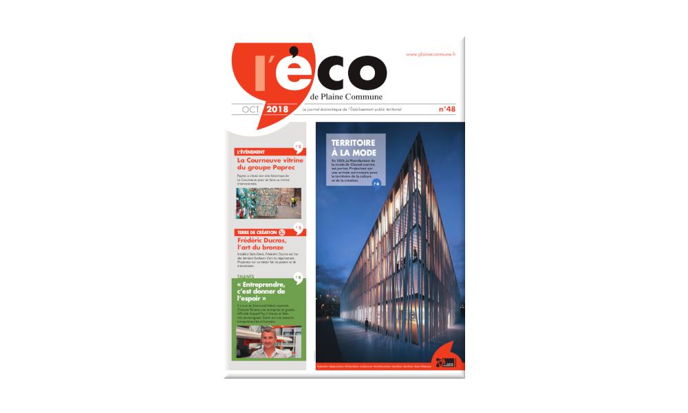 Page de couverture du journal économique de l'Établissement Public Territorial Plaine Commune